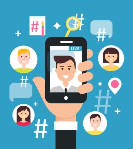 71309424 - attracting followers with live video streaming from smart phone