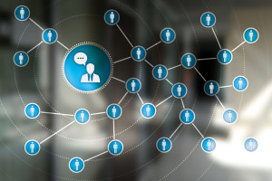 Peoples icon network. SMM. Social media marketing.