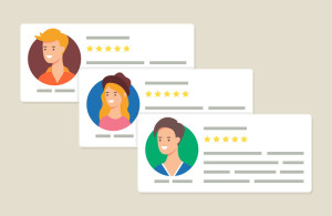 61925412 - user reviews and feedback concept vector illustration